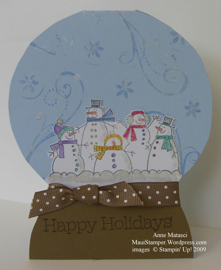 Shimmery Snow Globe Snowmen