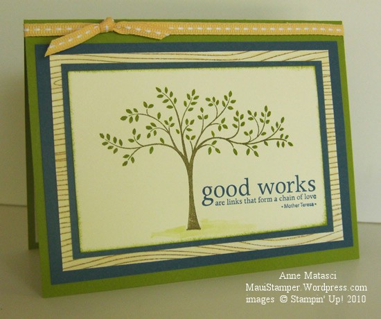 Stampin' Up! Thoughts and Prayers Masculine Tree