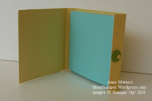 Matchbook style Sticky Note open