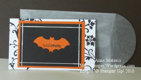 Batty Note with Rectangle Glassine Envelope