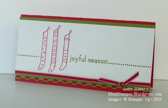Joyful Season Letterpress card
