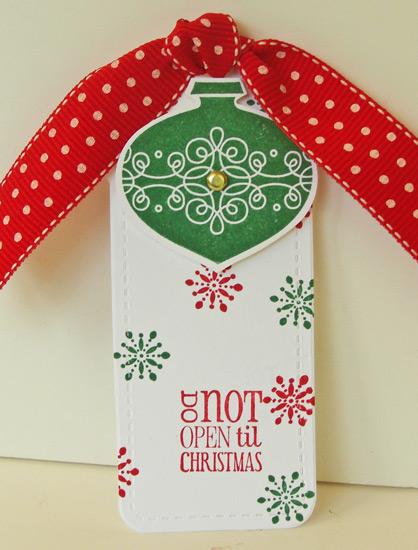 Do Not Open Til Christmas tag