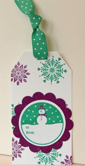 Tags for Christmas snowman