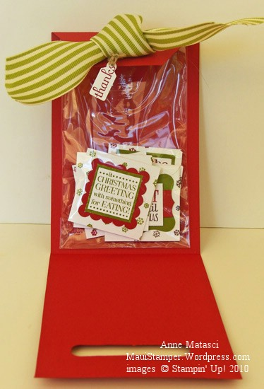 Inside the Santa tag pouch