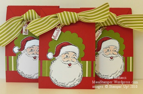 Santa tag pouch