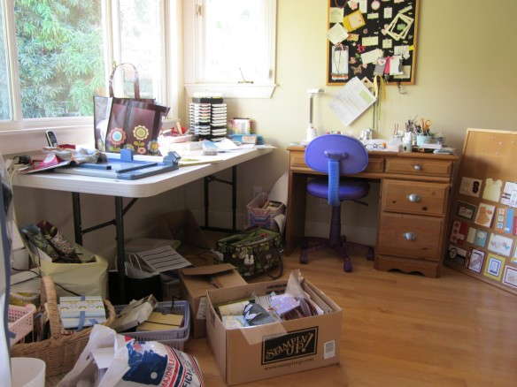 Messy stamp room