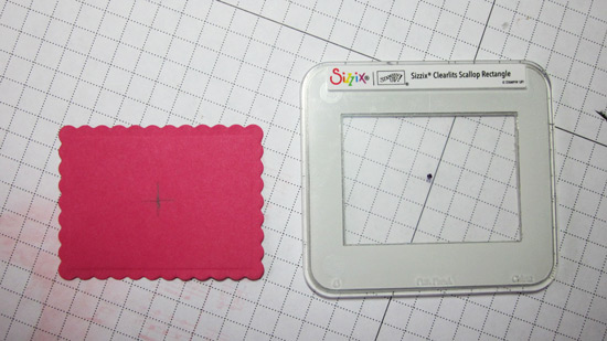 Sizzix Scallop Rectangle Clearlit