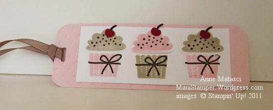 Cheryl's cupcake bookmark