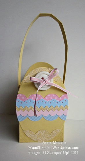 The trimmed Easter basket
