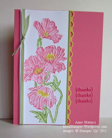Flower garden and Stampin' Pastels