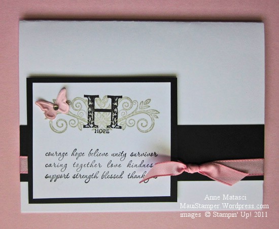Stampin' for the Girls card