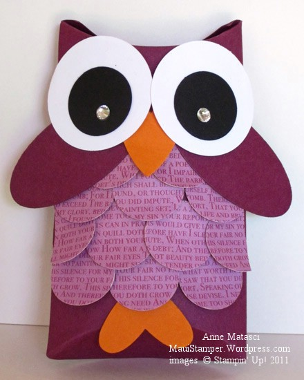Pillow box owl
