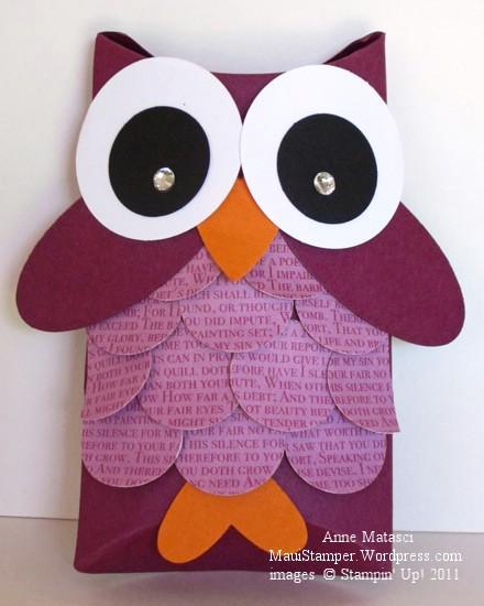 Pillow box owl