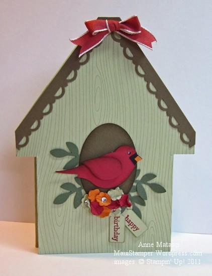 Bird house card