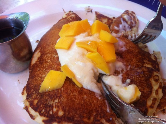 Longhis Ricotta and Mango Stuffed pancakes