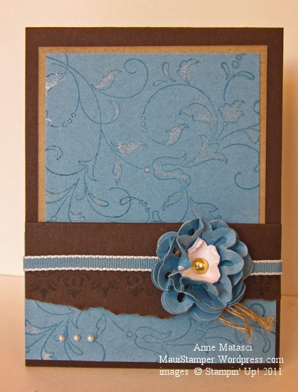 Marina Mist flower card holder
