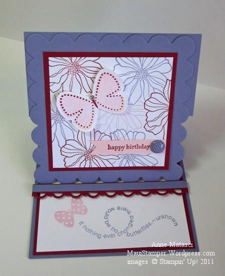 Wisteria Butterflies Easel card