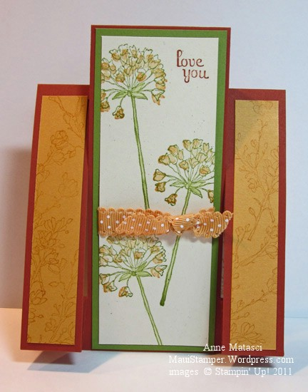 Love You Step Ladder card