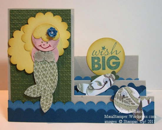 Jeri Holm's Mermaid Side Step card