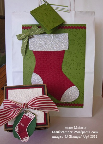 Stocking Suite gift bag and cookie box