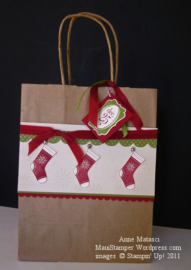 Stitched Stockings Gift Bag
