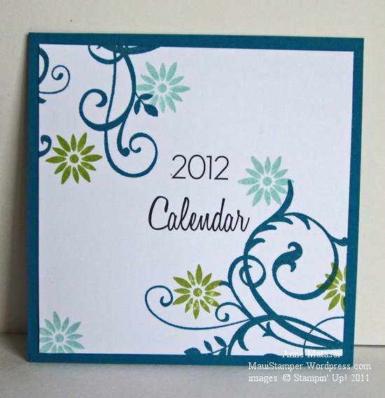 2012 Easel Calendar Cover