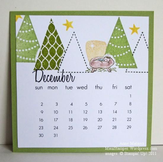 December 2012 Easel Calendar