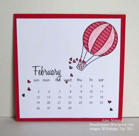 February 2012 Easel Calendar