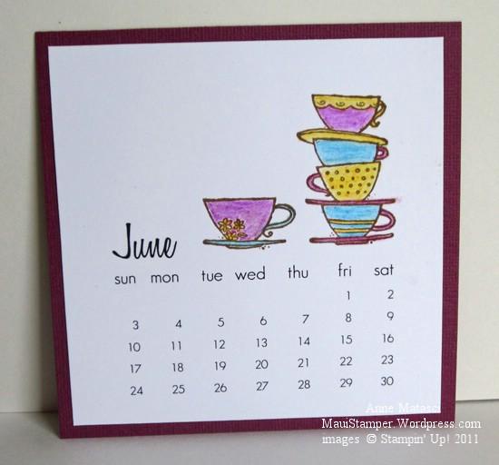 June 2012 Easel Calendar