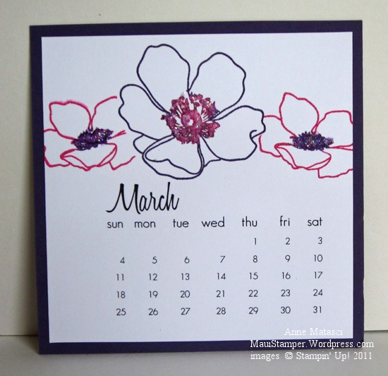 March 2012 Easel Calendar