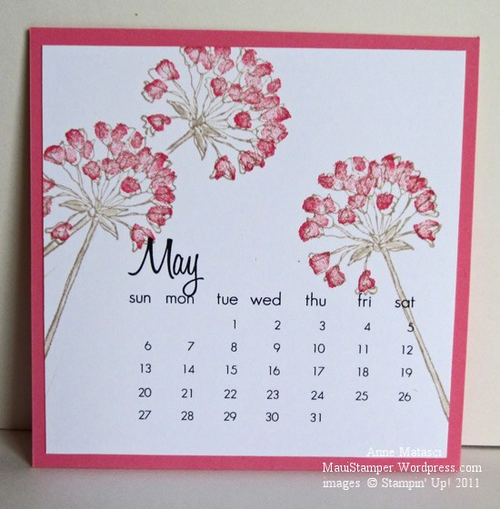May 2012 Easel Calendar