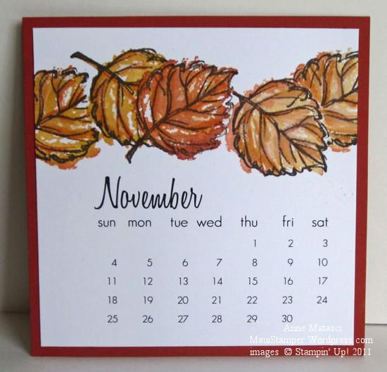 November 2012 Easel Calendar