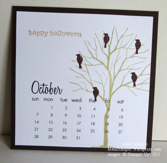 October 2012 Easel Calendar