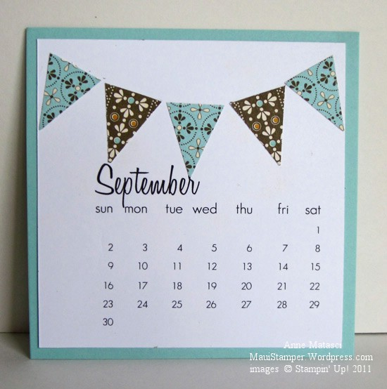 September 2012 Easel Calendar