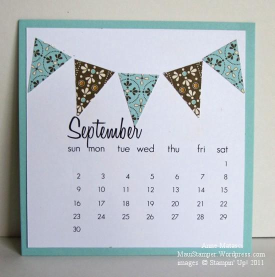 September 2012 Easel Calendar