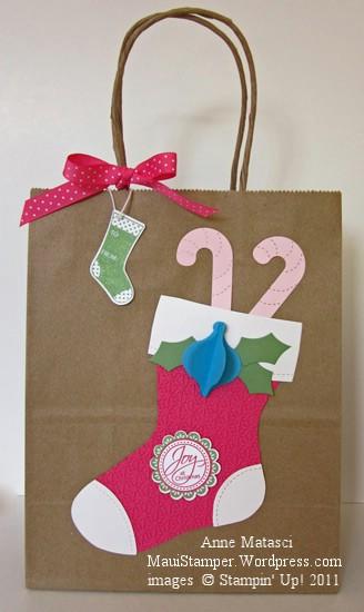 Cheryl's pink stocking bag