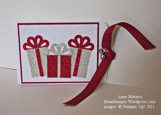 Kellie's sparkly gift card holder