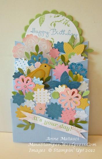 Floral Cascade card