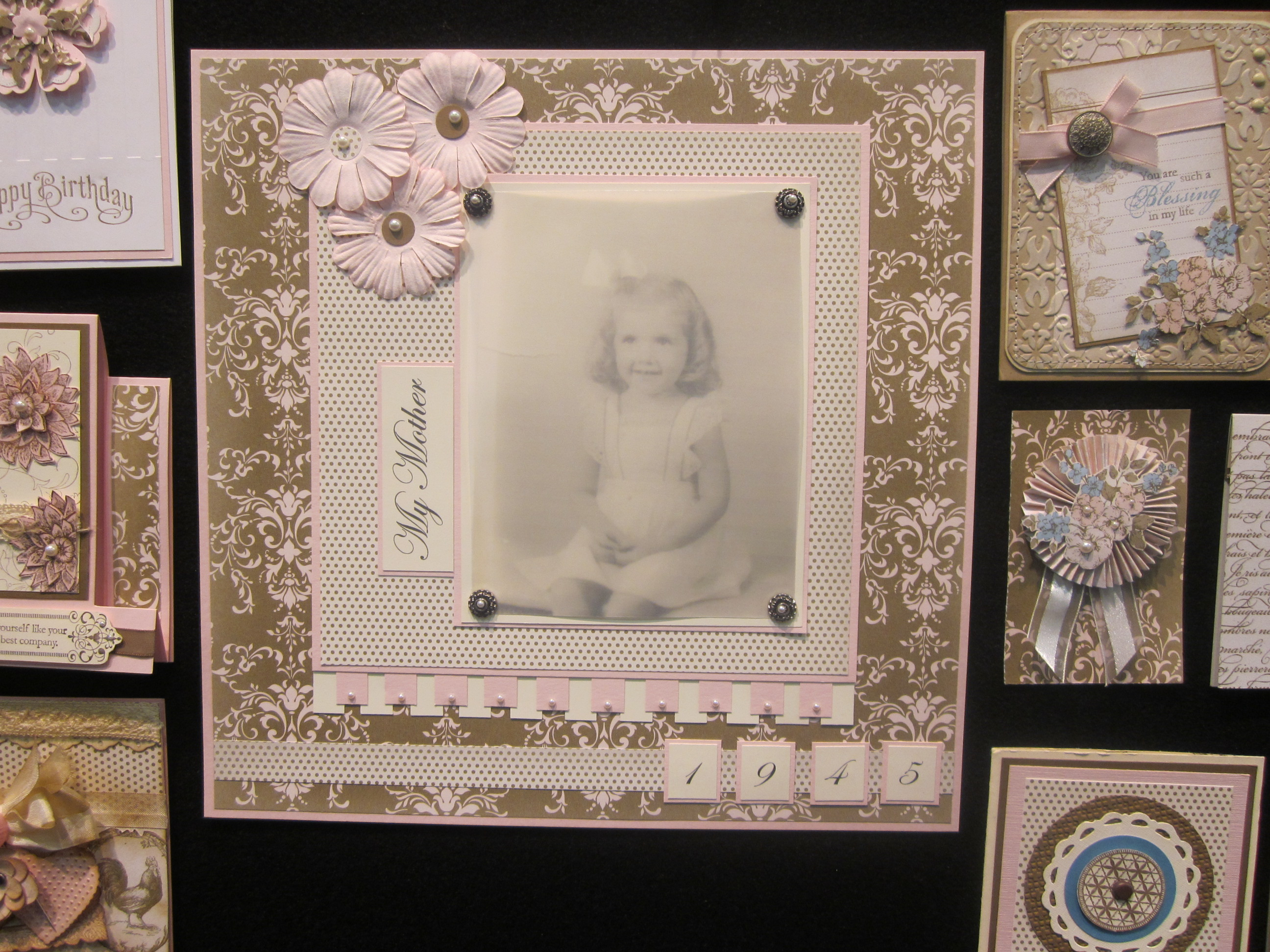 Scrapbook ideas list - One Of The Projects On My List Admit It You Have One Too Is A Family History Scrapbook I Loved The Combintation Of Sepia And Pink To Create This Vintage