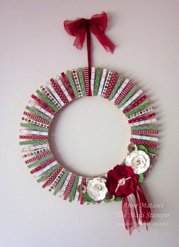 Stampin' Up! Christmas Wreath Be of Good Cheer DSP