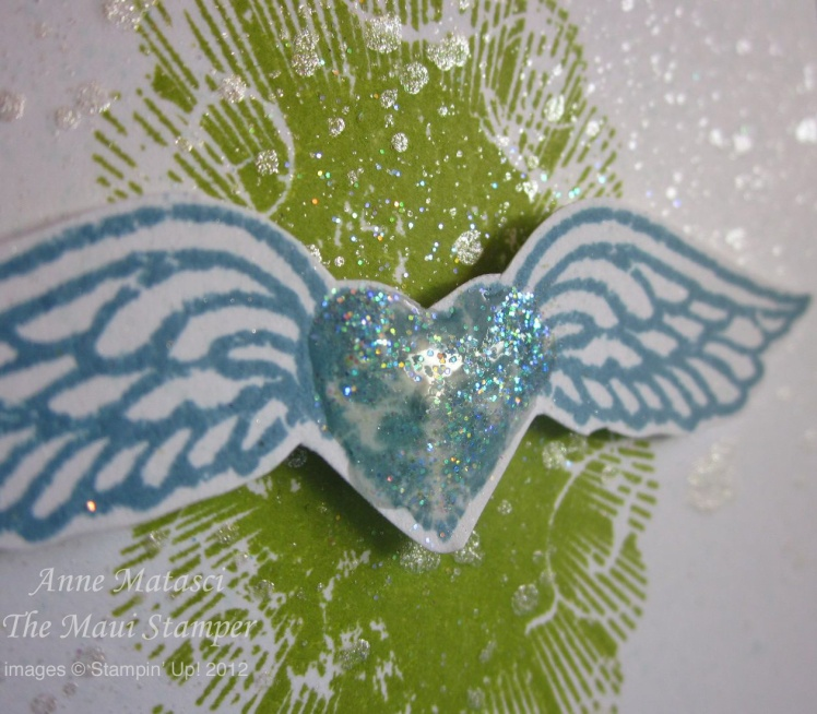 Maui Stamper Affection Collection Heart on Wings