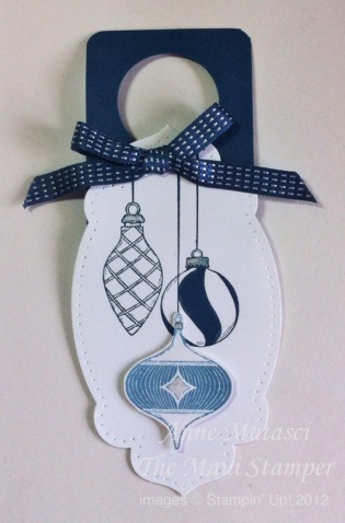 Maui Stamper Merry and Bright Bottle Tag