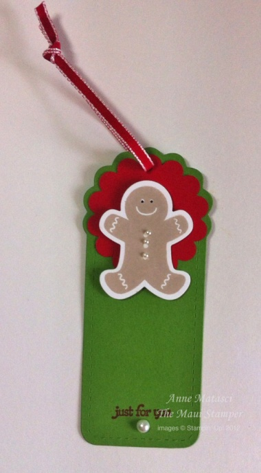 Maui Stamper Sensational Seasons Gingerbread Man tag