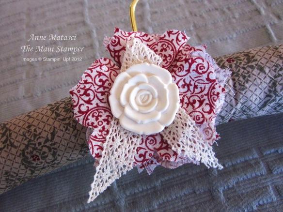 Maui Stamper hand made embellished clothes hanger