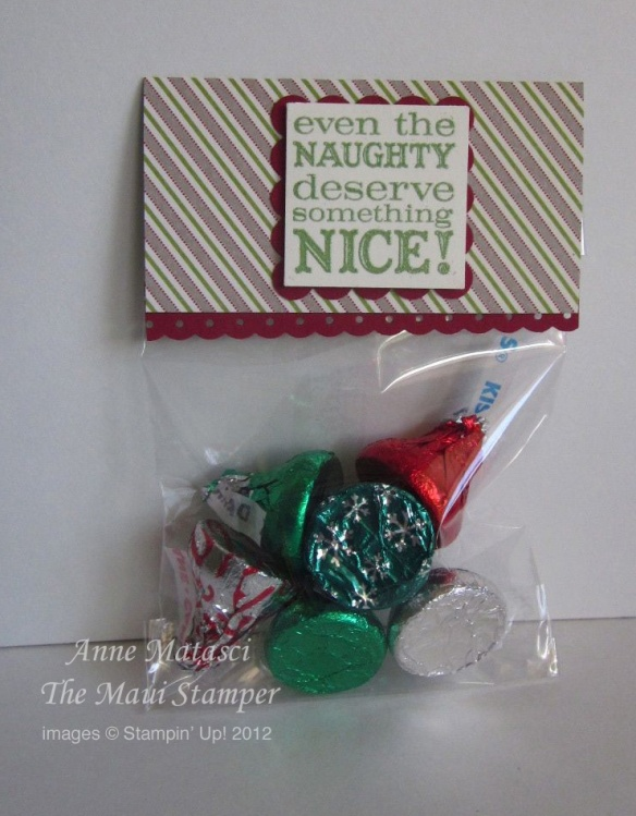 Maui Stamper Hershey Nuggets Naughty and Nice