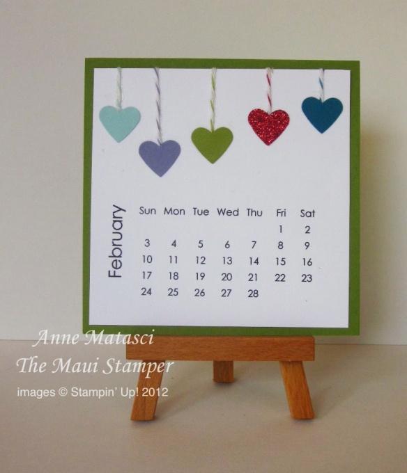 Maui Stamper February 2013 calendar