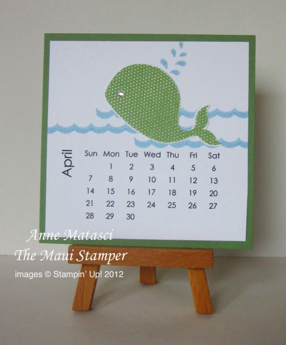 Maui Stamper April 2013 calendar