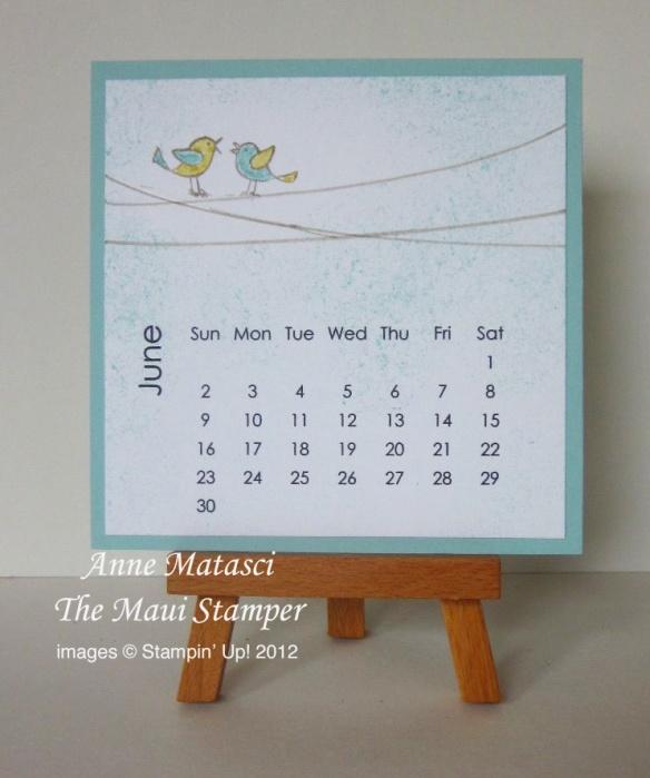 Maui Stamper June 2013 calendar
