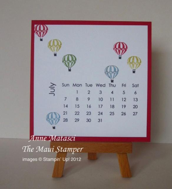 Maui Stamper 2013 Calendar July