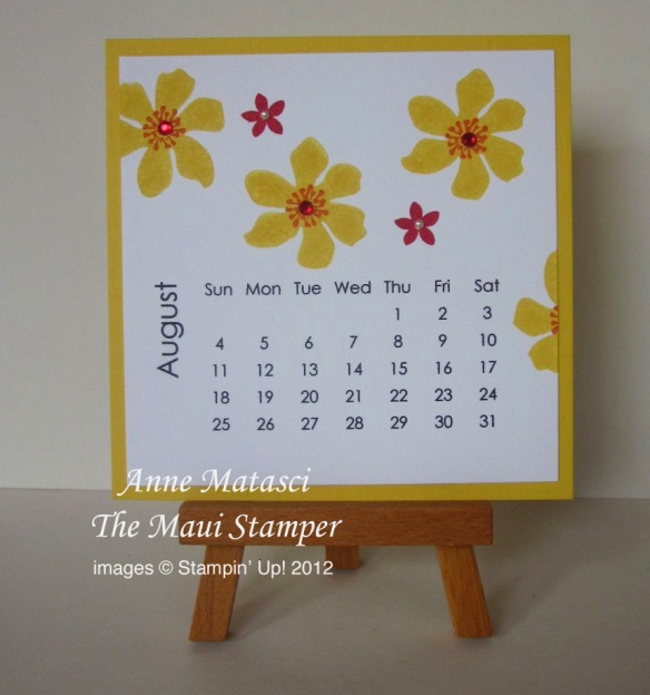 Maui Stamper 2013 Calendar August